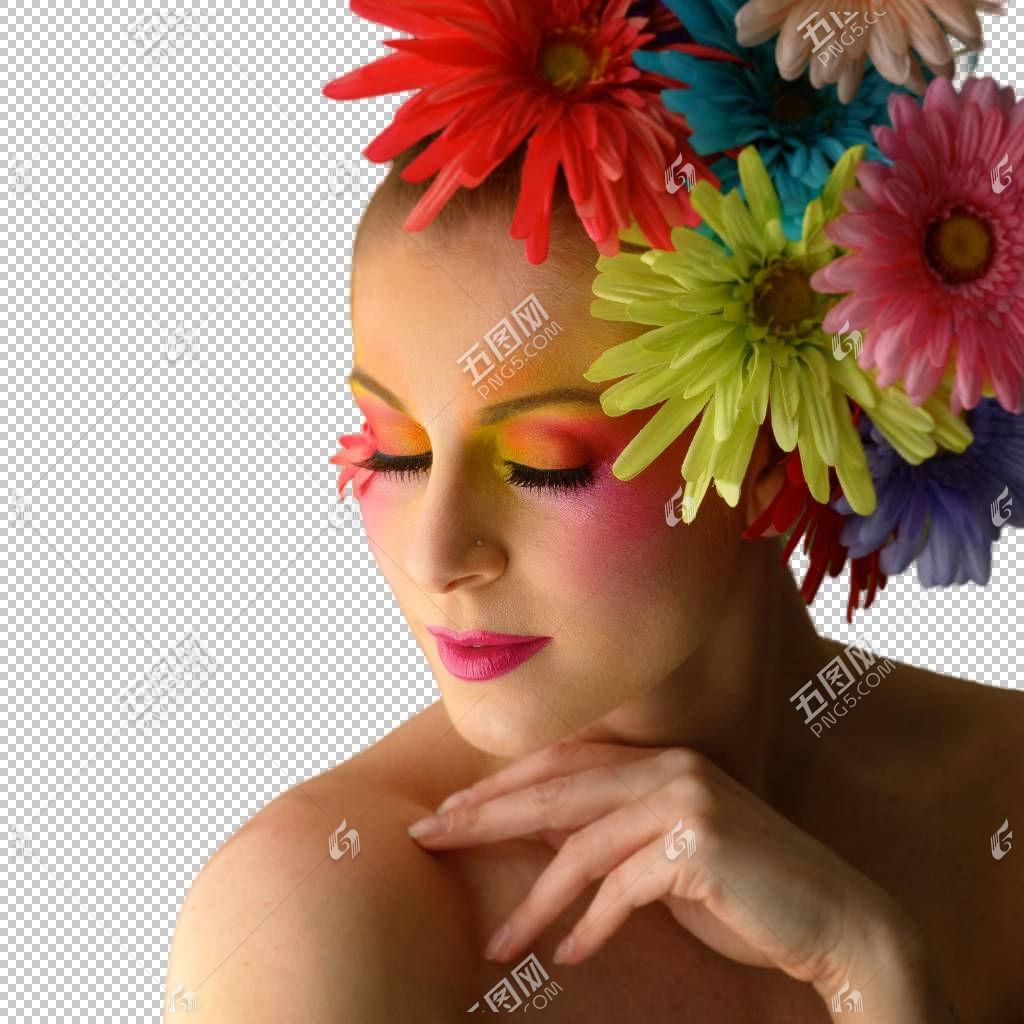 女人花卉艺术妆容
