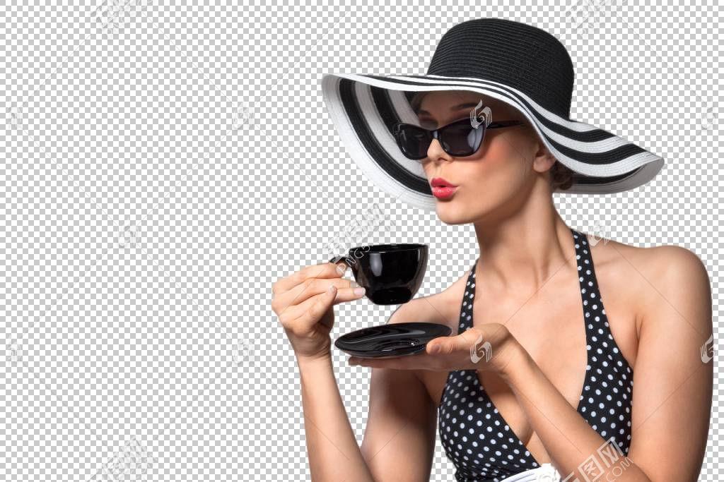 端着咖啡杯的性感女性