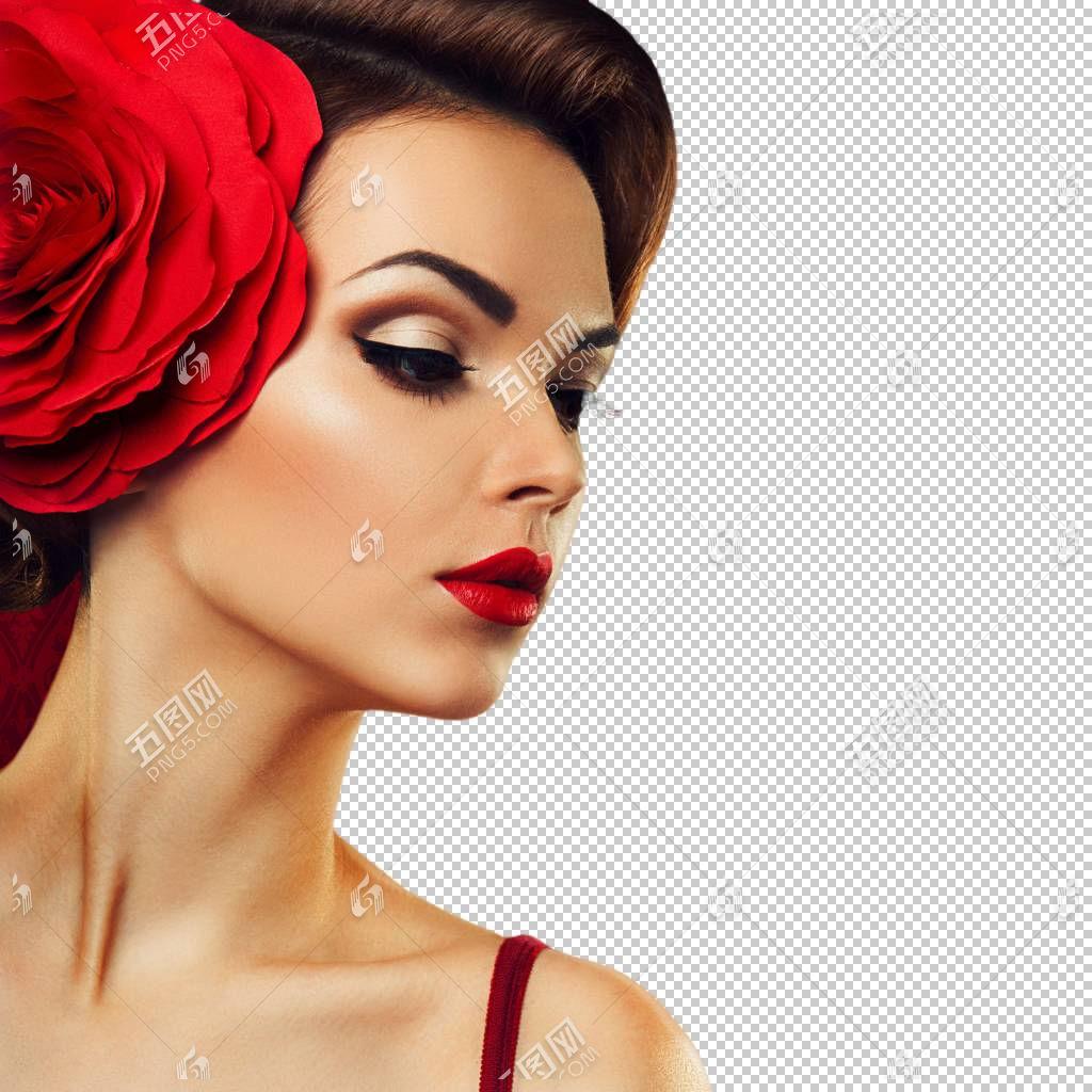 女性美容面部管理侧脸