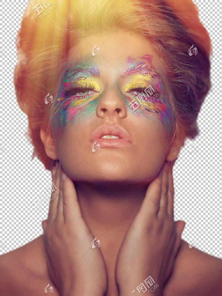 年轻女性艺术眼妆