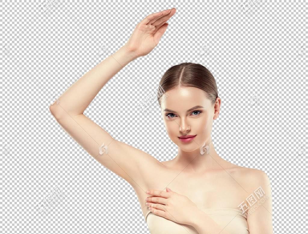腋窝脱毛广告美女