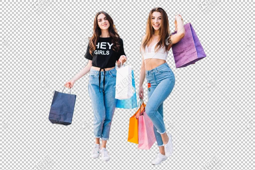 购物的时尚少女