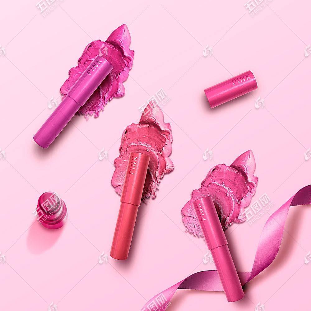 口红女性化妆品产品展示海报设计