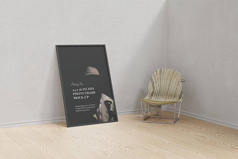 室内装饰画海报样机设计
