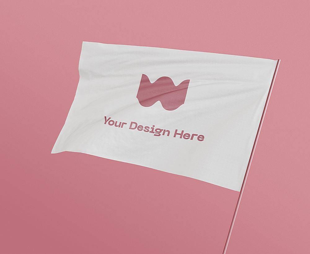 企业旗子智能样机素材
