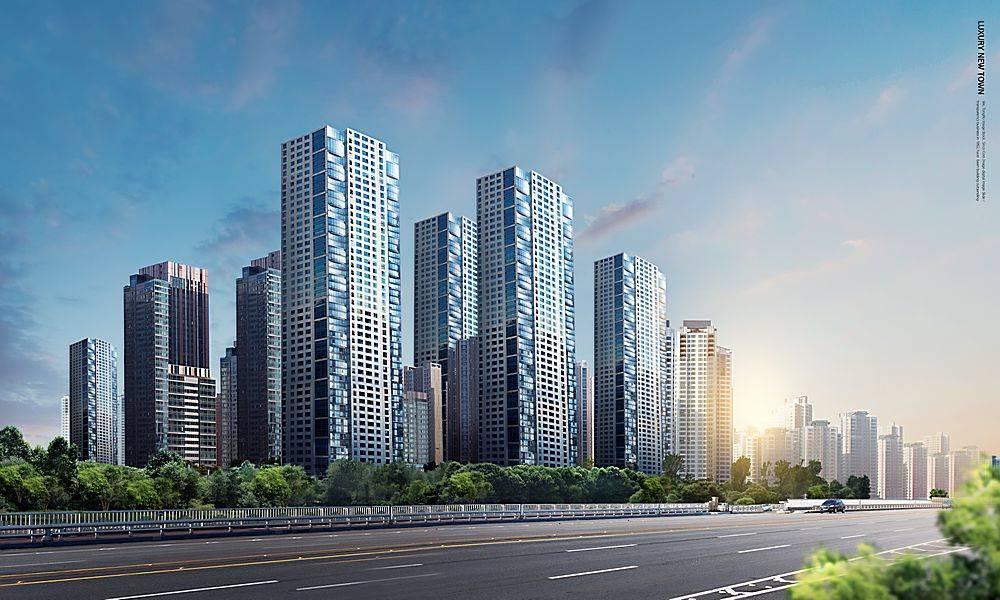 新城市新楼盘房地产高楼大厦海报设计