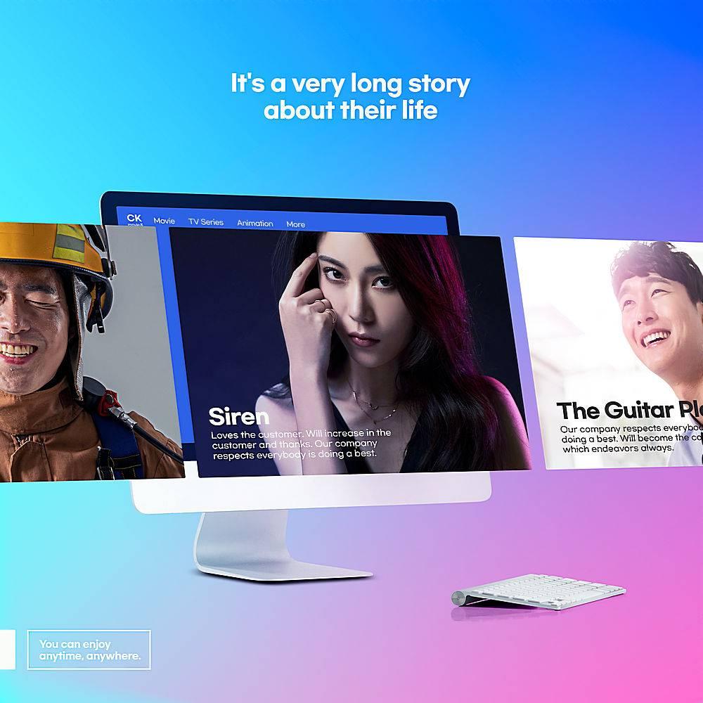 互联网时代平板电脑手机屏幕多媒体界面浏览窗口海报设计