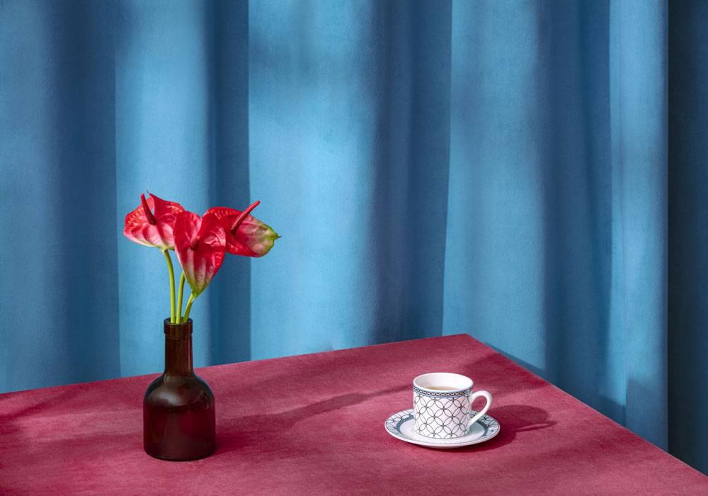欧式花瓶红掌与咖啡杯