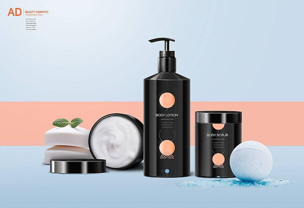 小清新简洁护肤品化妆品美容图片