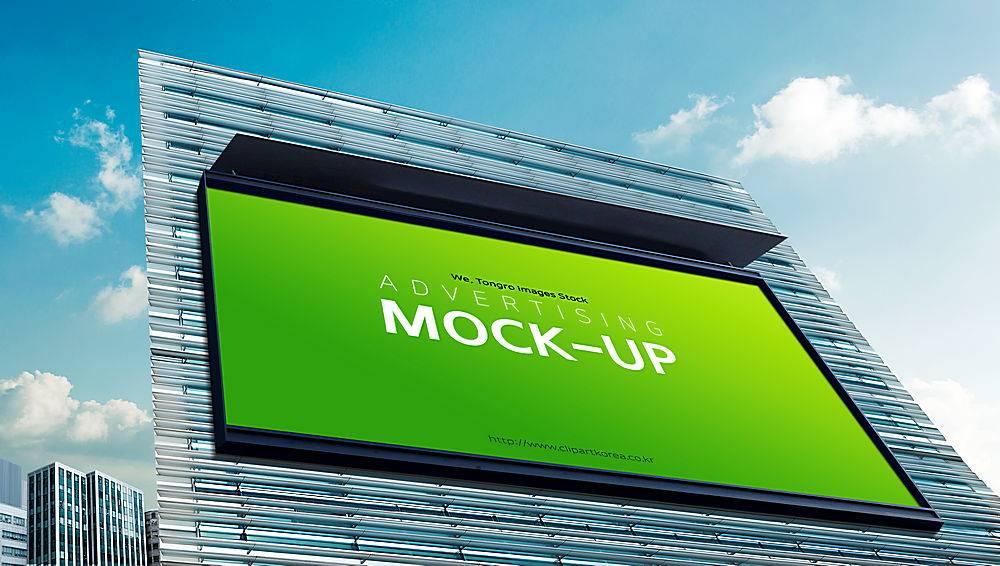 大气时尚建筑户外广告牌海报样机