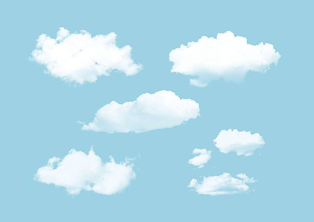 晴天白云装饰素材