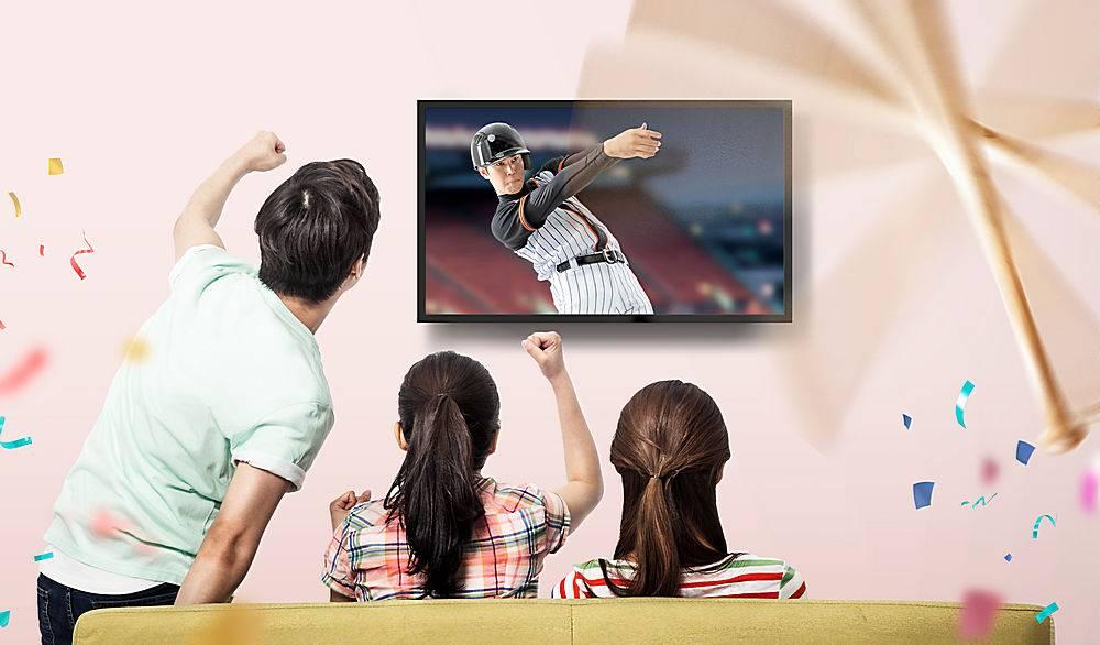 居家看棒球赛