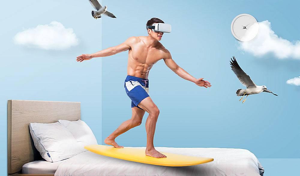 居家房间海边VR冲浪